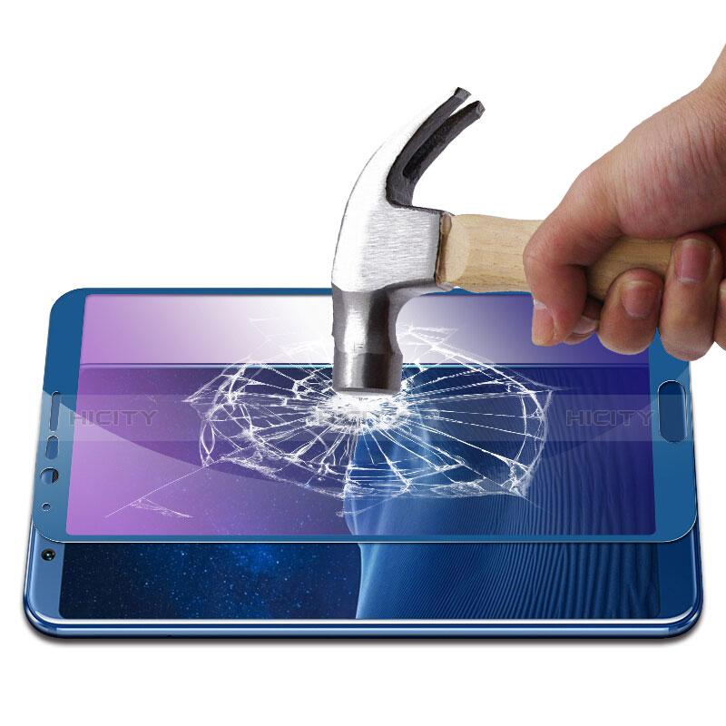 Huawei Honor View 10用アンチグレア ブルーライト 強化ガラス 液晶保護フィルム B01 ファーウェイ ネイビー