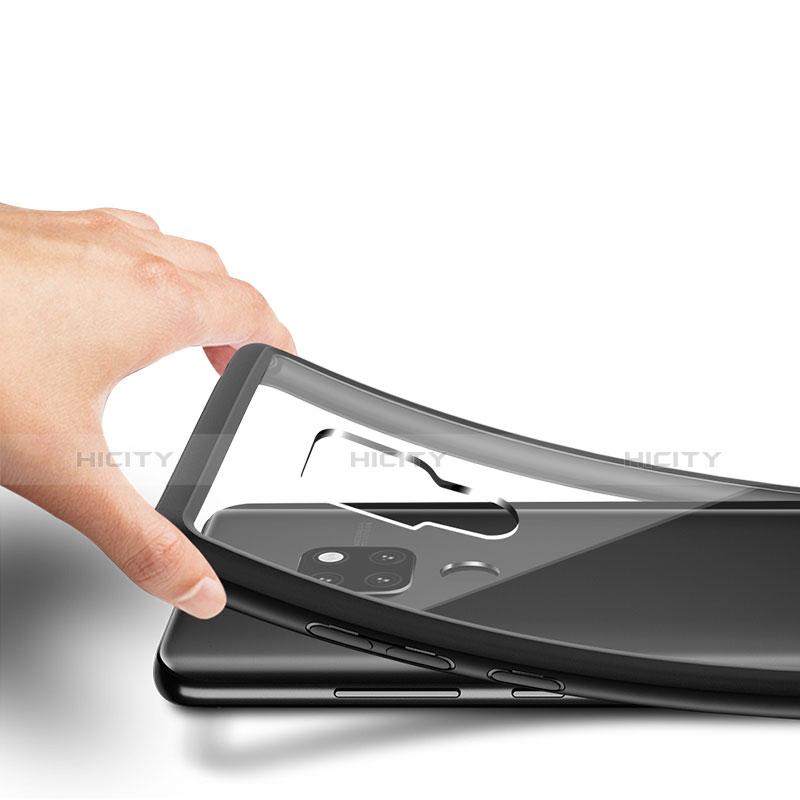 Huawei Mate 20用ハイブリットバンパーケース クリア透明 プラスチック 鏡面 ファーウェイ ブラック