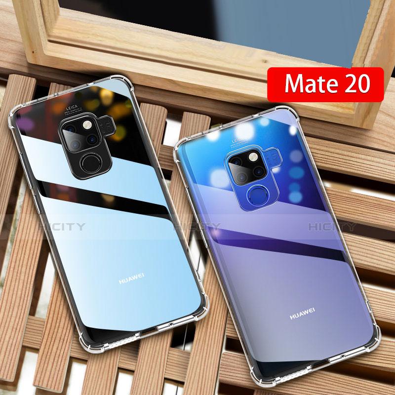 Huawei Mate 20用極薄ソフトケース シリコンケース 耐衝撃 全面保護 クリア透明 T03 ファーウェイ クリア