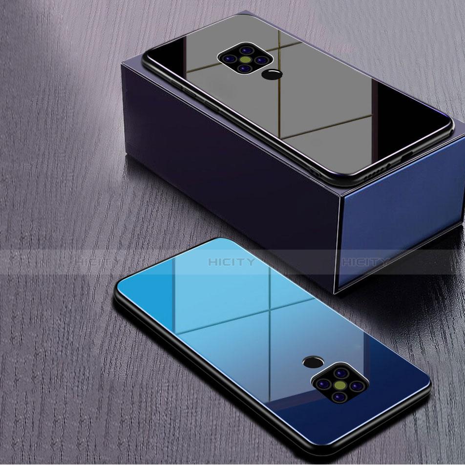 Huawei Mate 20用ハイブリットバンパーケース プラスチック 鏡面 虹 グラデーション 勾配色 カバー ファーウェイ