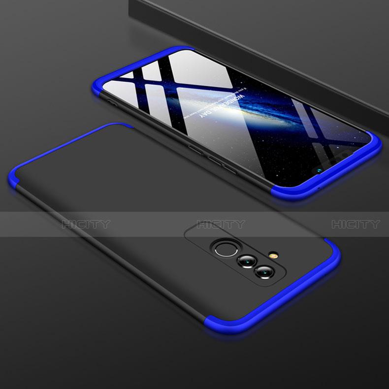 Huawei Mate 20 Lite用ハードケース プラスチック 質感もマット 前面と背面 360度 フルカバー ファーウェイ ネイビー・ブラック