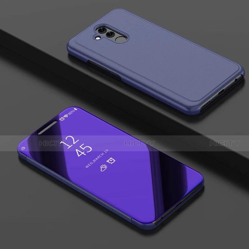 Huawei Mate 20 Lite用手帳型 レザーケース スタンド 鏡面 カバー ファーウェイ パープル