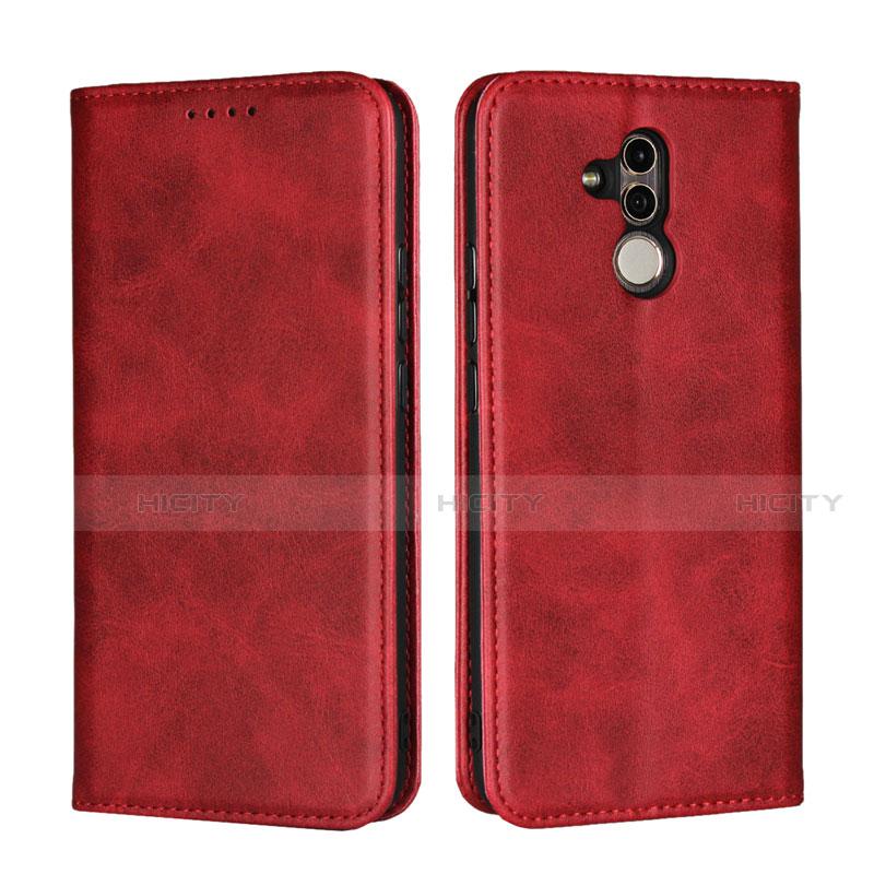 Huawei Mate 20 Lite用手帳型 レザーケース スタンド カバー L06 ファーウェイ レッド