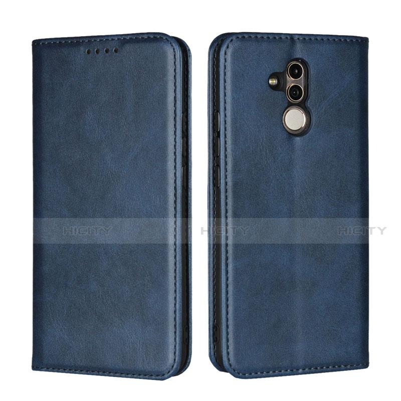 Huawei Mate 20 Lite用手帳型 レザーケース スタンド カバー L06 ファーウェイ ネイビー