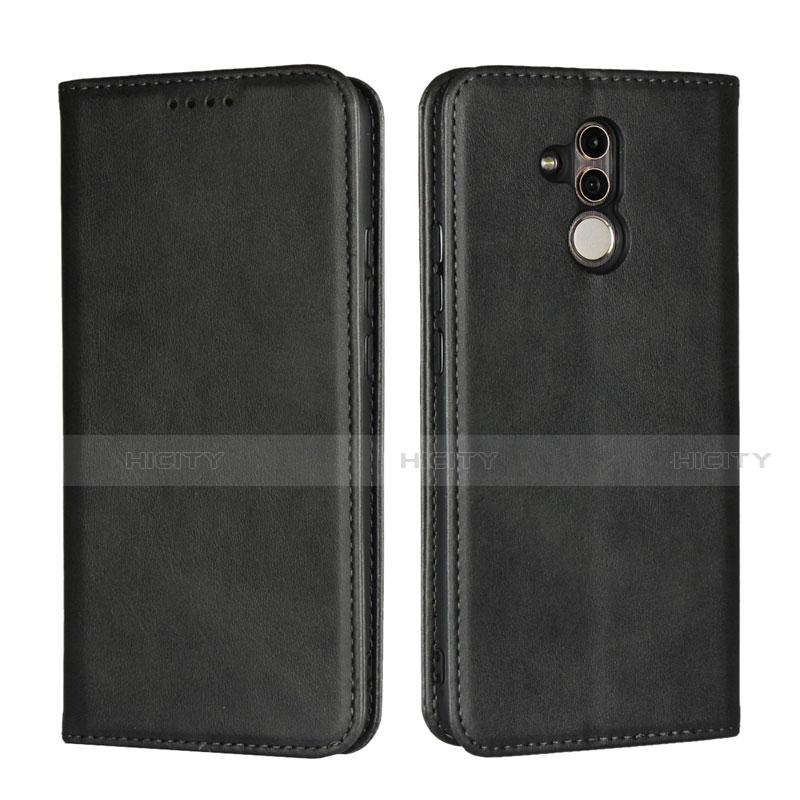 Huawei Mate 20 Lite用手帳型 レザーケース スタンド カバー L06 ファーウェイ ブラック