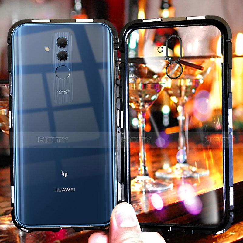 Huawei Mate 20 Lite用ケース 高級感 手触り良い アルミメタル 製の金属製 バンパー 鏡面 カバー M01 ファーウェイ ブラック
