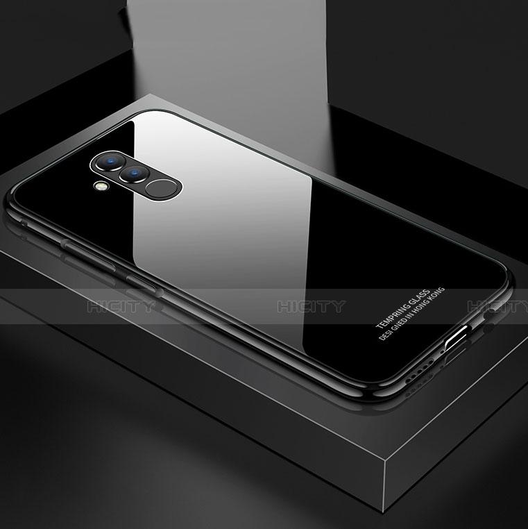 Huawei Mate 20 Lite用ケース 高級感 手触り良い アルミメタル 製の金属製 バンパー 鏡面 カバー M02 ファーウェイ ブラック