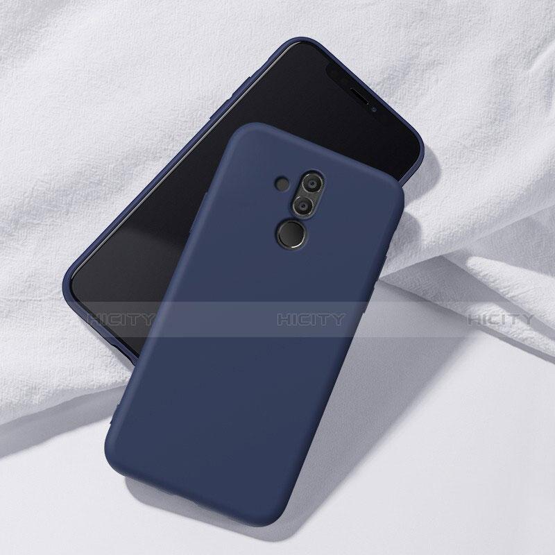 Huawei Mate 20 Lite用極薄ソフトケース シリコンケース 耐衝撃 全面保護 S04 ファーウェイ ネイビー