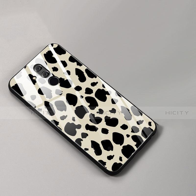 Huawei Mate 20 Lite用ハイブリットバンパーケース プラスチック パターン 鏡面 カバー ファーウェイ ゴールド
