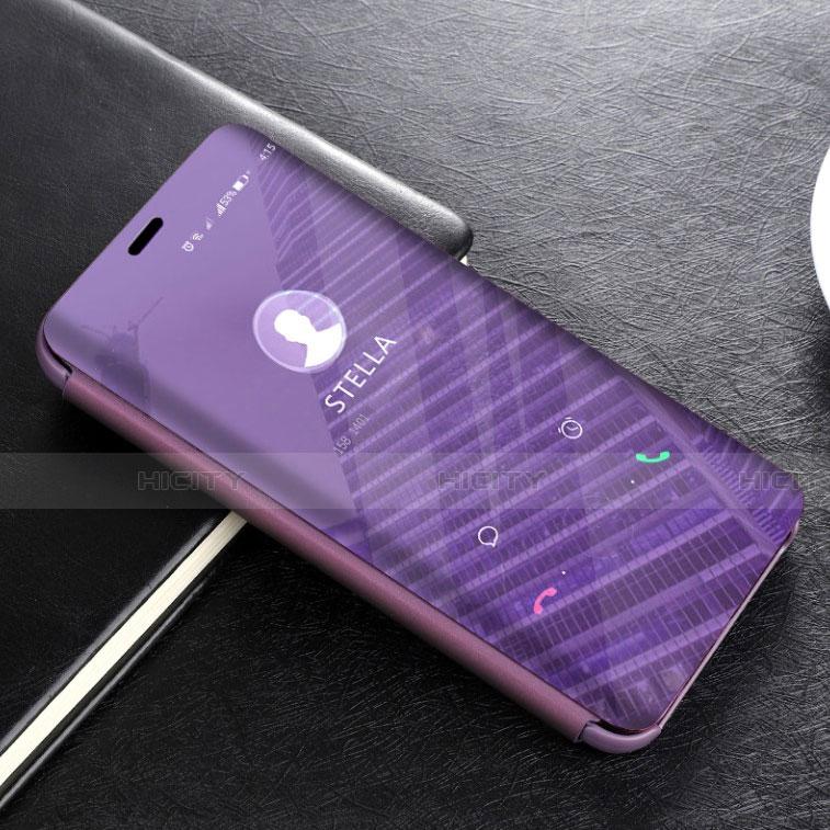 Huawei Mate 20 Lite用手帳型 レザーケース スタンド 鏡面 カバー L02 ファーウェイ パープル