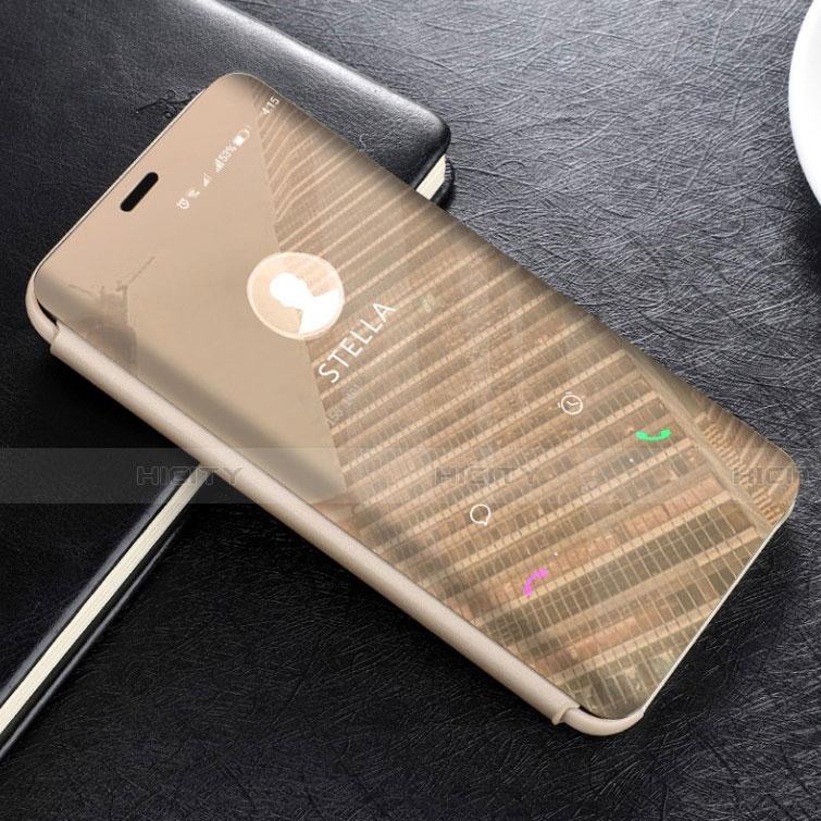 Huawei Mate 20 Lite用手帳型 レザーケース スタンド 鏡面 カバー L02 ファーウェイ ゴールド