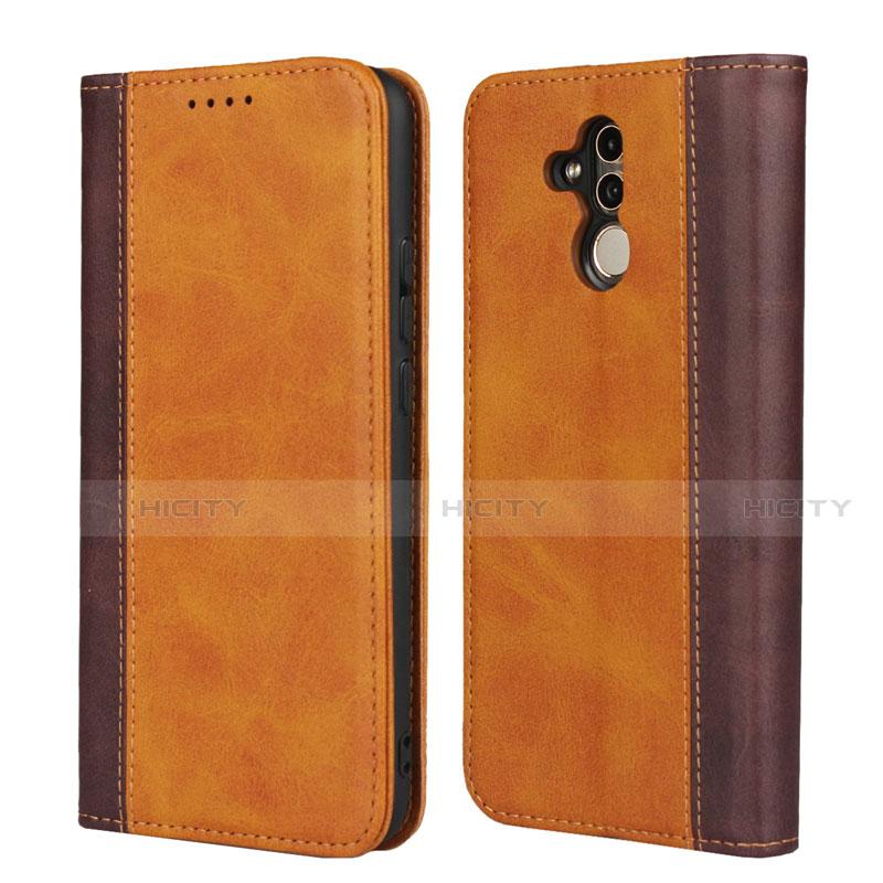 Huawei Mate 20 Lite用手帳型 レザーケース スタンド カバー L04 ファーウェイ オレンジ