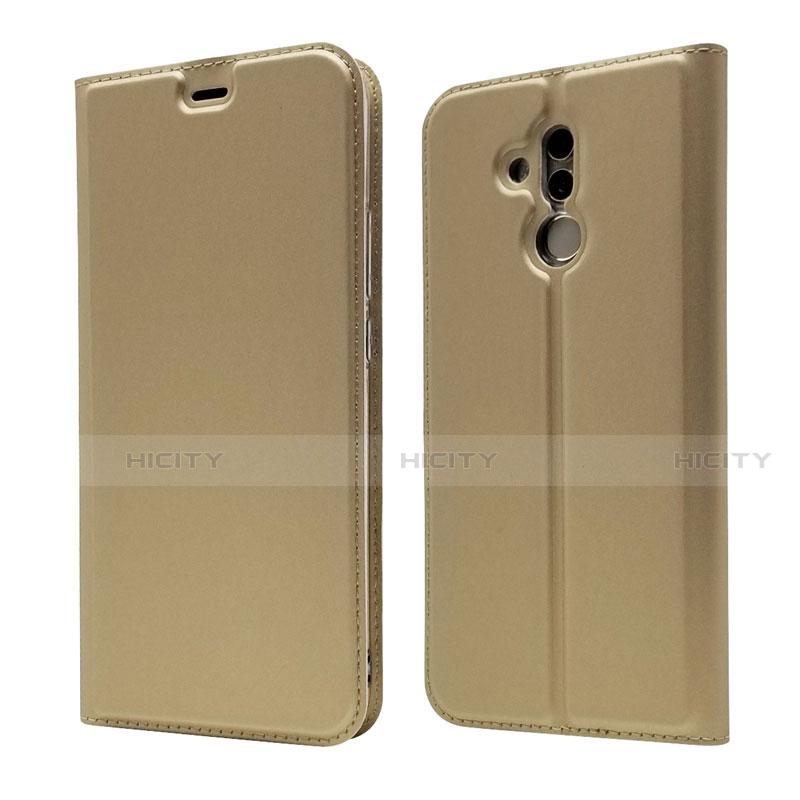 Huawei Mate 20 Lite用手帳型 レザーケース スタンド カバー L07 ファーウェイ ゴールド
