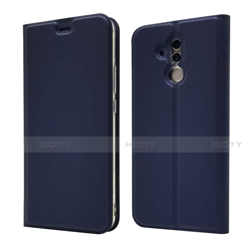Huawei Mate 20 Lite用手帳型 レザーケース スタンド カバー L07 ファーウェイ ネイビー