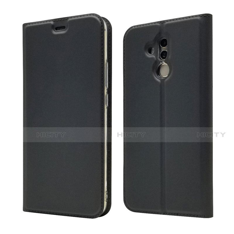 Huawei Mate 20 Lite用手帳型 レザーケース スタンド カバー L07 ファーウェイ ブラック