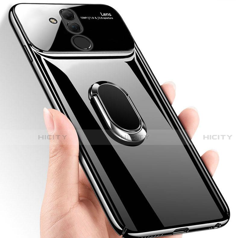 Huawei Mate 20 Lite用ハードケース プラスチック 鏡面 360度 フルカバー アンド指輪 マグネット式 ファーウェイ