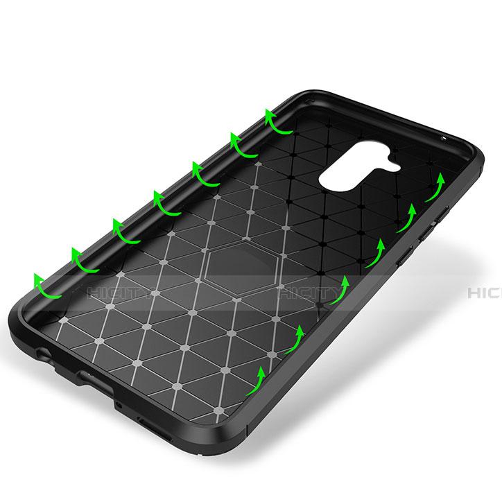 Huawei Mate 20 Lite用シリコンケース ソフトタッチラバー ツイル カバー T02 ファーウェイ