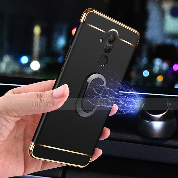 Huawei Mate 20 Lite用ケース 高級感 手触り良い メタル兼プラスチック バンパー アンド指輪 A01 ファーウェイ