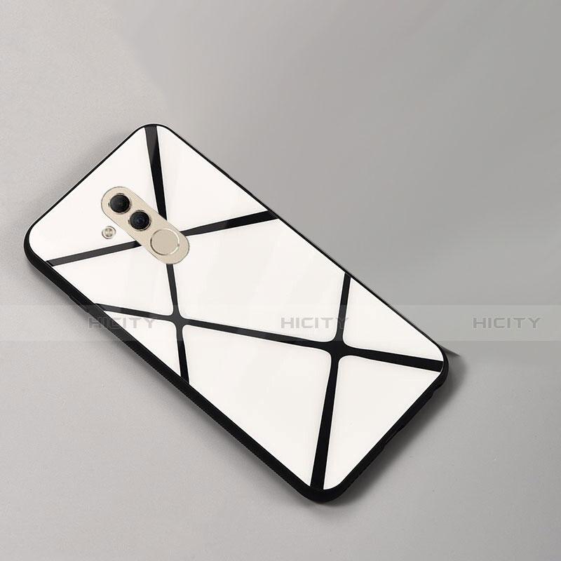 Huawei Mate 20 Lite用ハイブリットバンパーケース プラスチック パターン 鏡面 カバー ファーウェイ