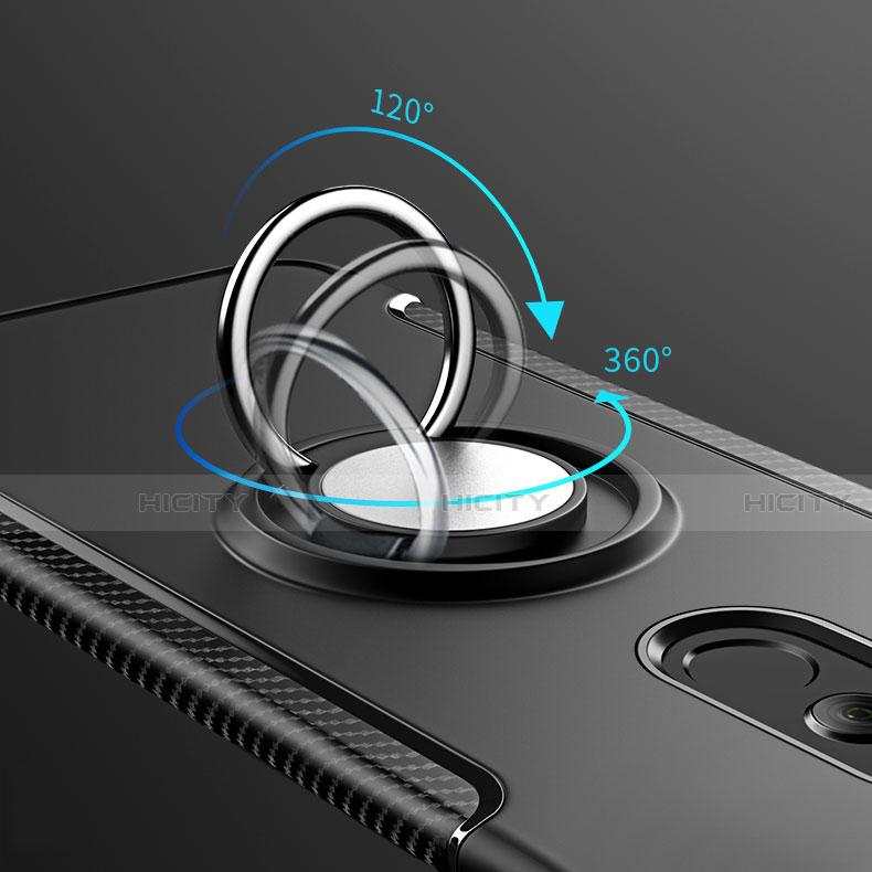 Huawei Mate 20 Lite用ハイブリットバンパーケース プラスチック アンド指輪 兼シリコーン カバー S01 ファーウェイ