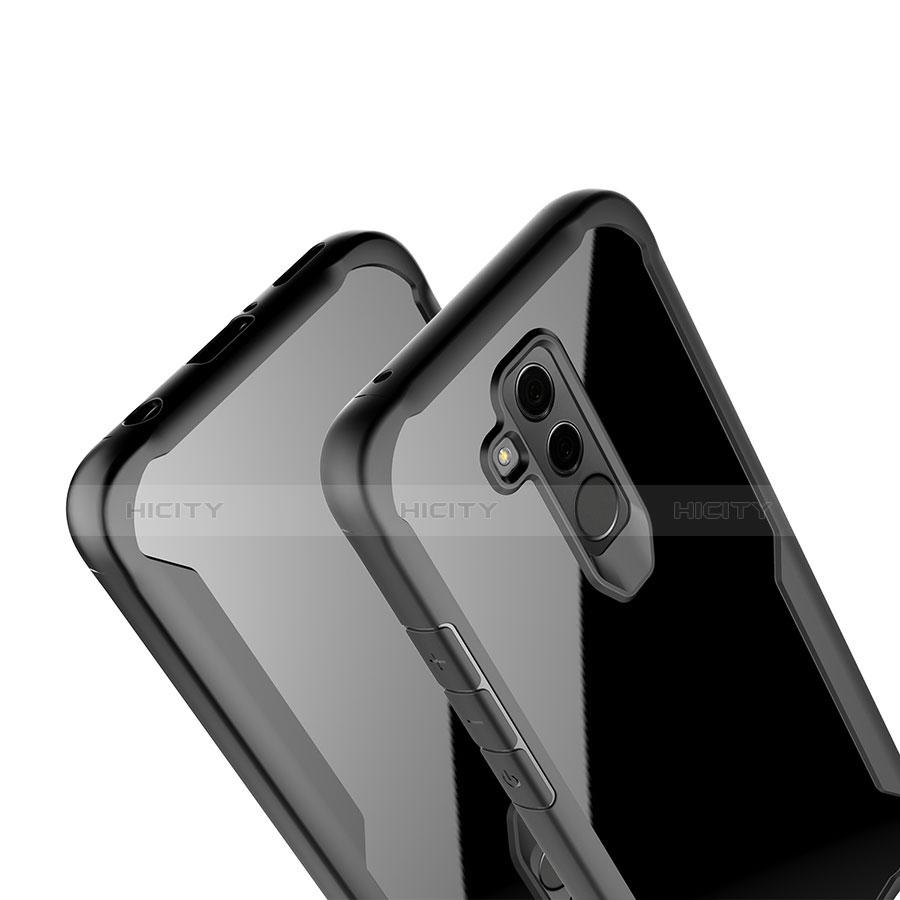 Huawei Mate 20 Lite用ハイブリットバンパーケース クリア透明 プラスチック 鏡面 カバー M01 ファーウェイ