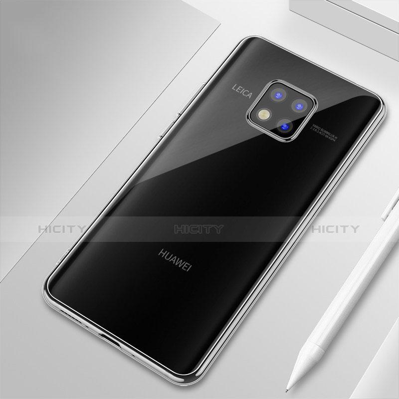 Huawei Mate 20 Pro用極薄ソフトケース シリコンケース 耐衝撃 全面保護 クリア透明 H01 ファーウェイ クリア