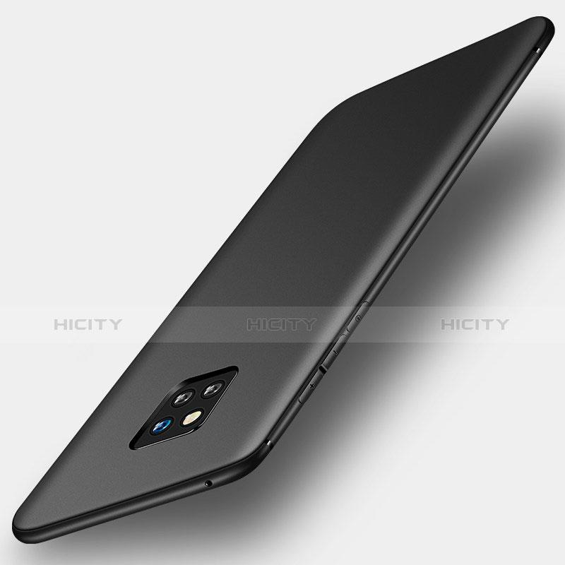 Huawei Mate 20 Pro用極薄ソフトケース シリコンケース 耐衝撃 全面保護 S01 ファーウェイ ブラック