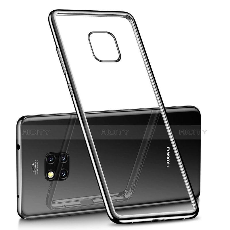 Huawei Mate 20 Pro用極薄ソフトケース シリコンケース 耐衝撃 全面保護 クリア透明 H02 ファーウェイ ブラック