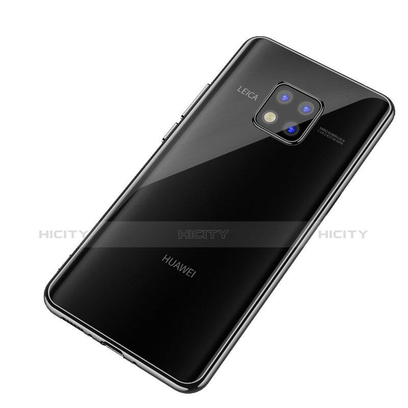 Huawei Mate 20 Pro用シリコンケース ソフトタッチラバー 鏡面 ファーウェイ ブラック