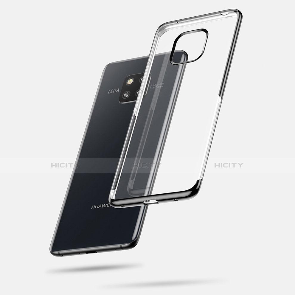 Huawei Mate 20 Pro用極薄ソフトケース シリコンケース 耐衝撃 全面保護 クリア透明 カバー ファーウェイ ブラック