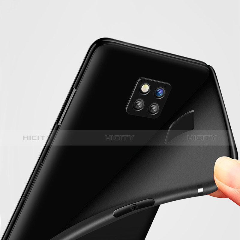 Huawei Mate 20 Pro用極薄ソフトケース シリコンケース 耐衝撃 全面保護 S02 ファーウェイ ブラック