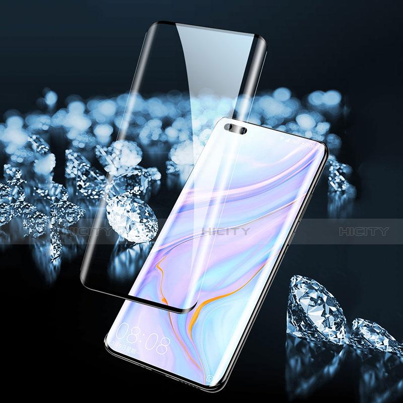 Huawei Mate 40 Pro+ Plus用強化ガラス フル液晶保護フィルム ファーウェイ ブラック