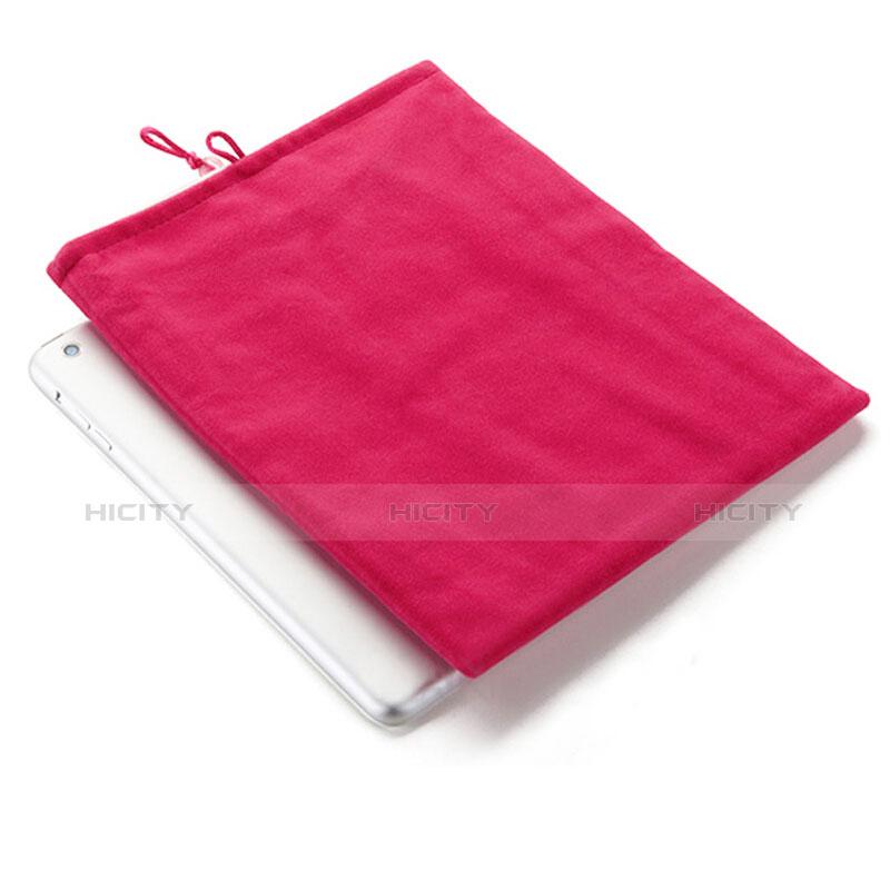 Huawei MatePad 10.4用ソフトベルベットポーチバッグ ケース ファーウェイ ローズレッド