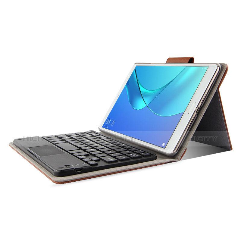Huawei MediaPad M5 8.4 SHT-AL09 SHT-W09用手帳型 レザーケース スタンド アンド キーボード ファーウェイ ブラウン