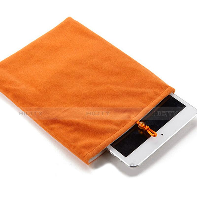 Huawei MediaPad X2用ソフトベルベットポーチバッグ ケース ファーウェイ オレンジ