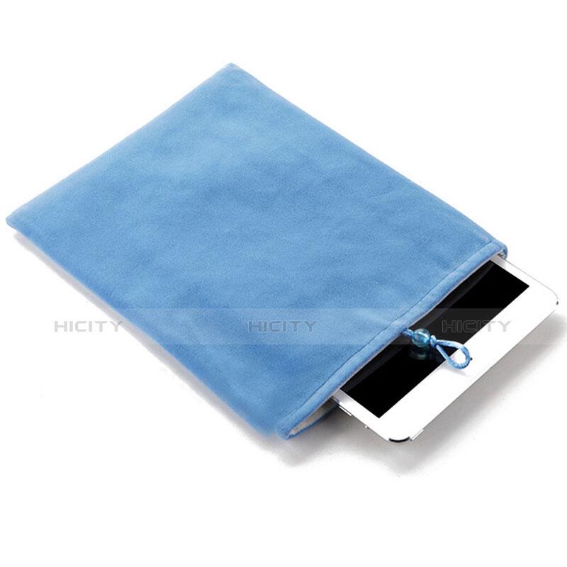 Huawei MediaPad X2用ソフトベルベットポーチバッグ ケース ファーウェイ ブルー