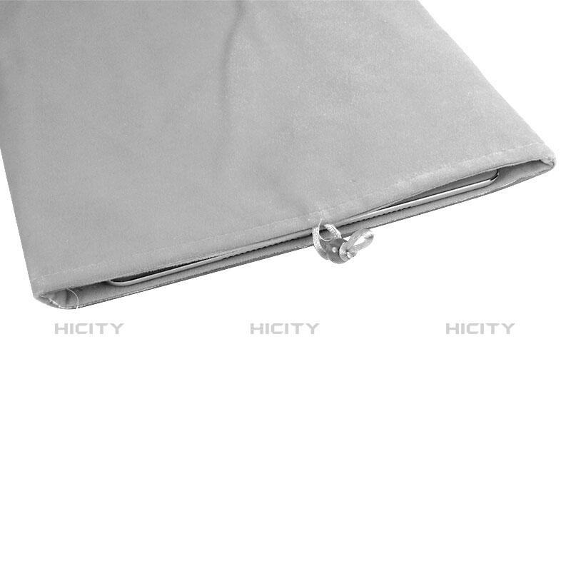 Huawei MediaPad X2用ソフトベルベットポーチバッグ ケース ファーウェイ ホワイト