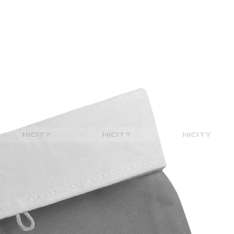 Huawei MediaPad X2用ソフトベルベットポーチバッグ ケース ファーウェイ グレー