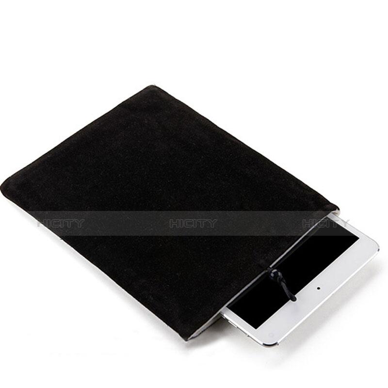 Huawei MediaPad X2用ソフトベルベットポーチバッグ ケース ファーウェイ ブラック