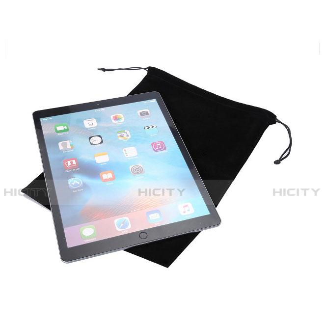 Huawei MediaPad X2用高品質ソフトベルベットポーチバッグ ケース ファーウェイ ブラック