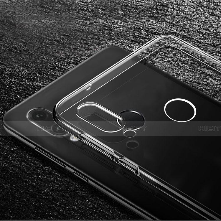 Huawei Nova 3e用極薄ソフトケース シリコンケース 耐衝撃 全面保護 クリア透明 T03 ファーウェイ クリア