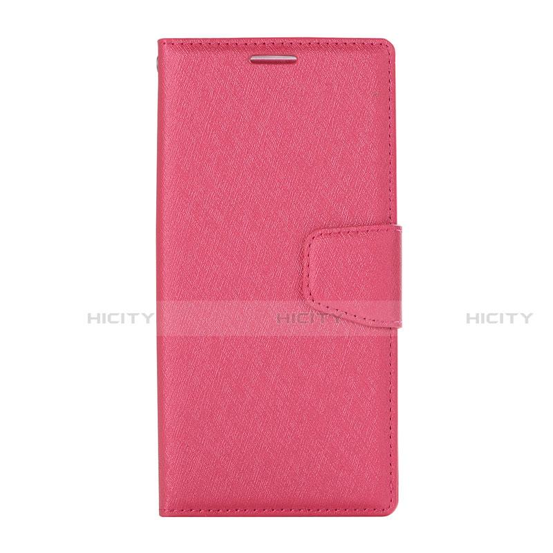 Huawei Nova 3e用手帳型 レザーケース スタンド カバー ファーウェイ ピンク