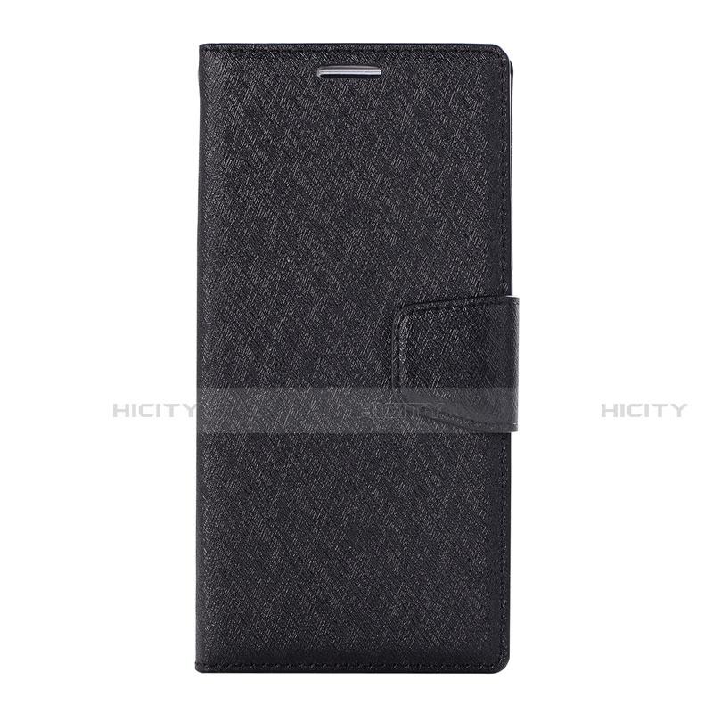 Huawei Nova 3e用手帳型 レザーケース スタンド カバー ファーウェイ ブラック