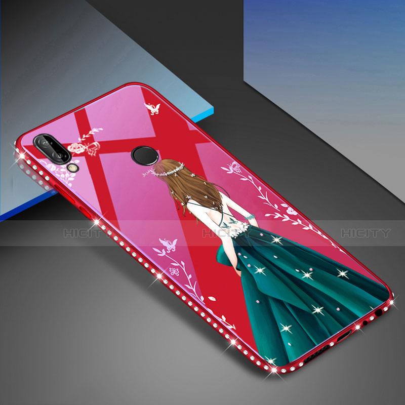 Huawei Nova 3e用ハイブリットバンパーケース プラスチック パターン 鏡面 カバー ファーウェイ グリーン