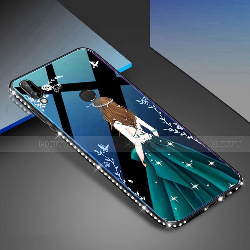 Huawei Nova 3e用ハイブリットバンパーケース プラスチック パターン 鏡面 カバー ファーウェイ マルチカラー