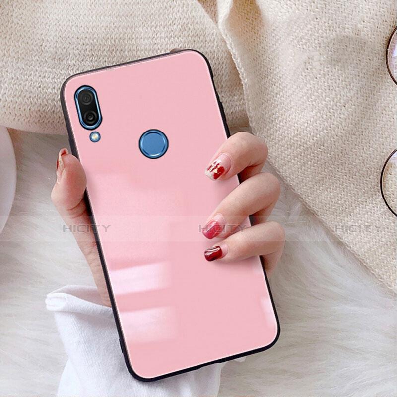 Huawei Nova 3e用ハイブリットバンパーケース プラスチック 鏡面 カバー M02 ファーウェイ ピンク