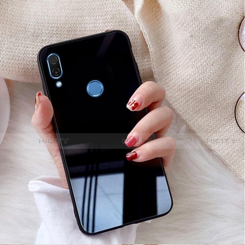 Huawei Nova 3e用ハイブリットバンパーケース プラスチック 鏡面 カバー M02 ファーウェイ ブラック