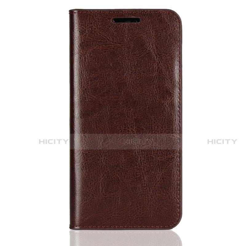 Huawei Nova 3e用手帳型 レザーケース スタンド カバー L05 ファーウェイ ブラウン