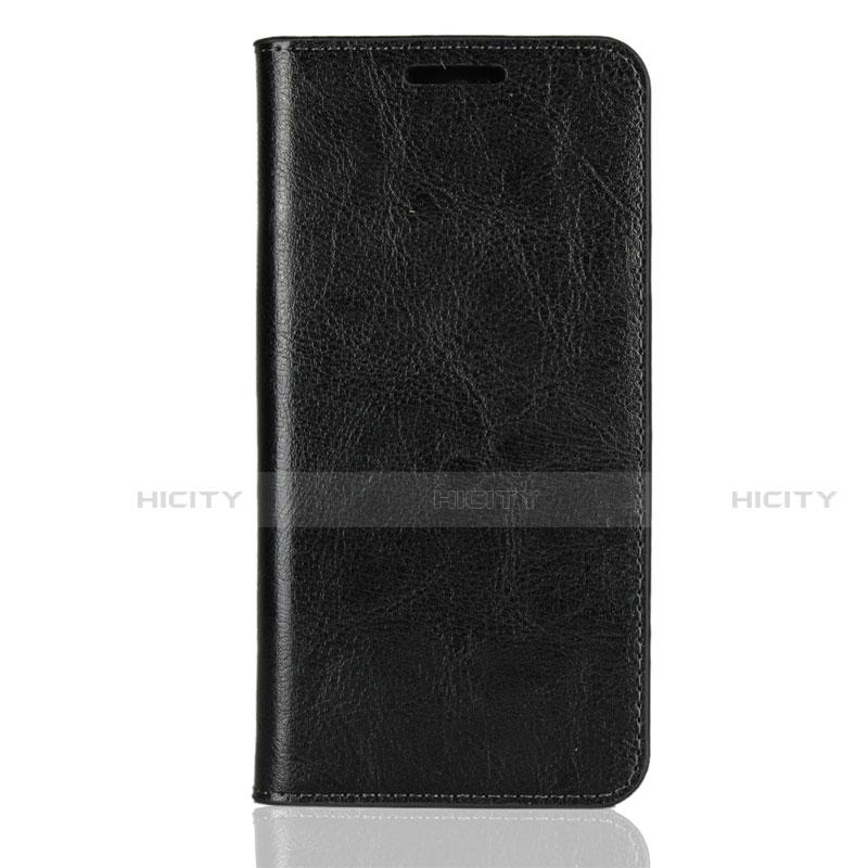 Huawei Nova 3e用手帳型 レザーケース スタンド カバー L05 ファーウェイ ブラック