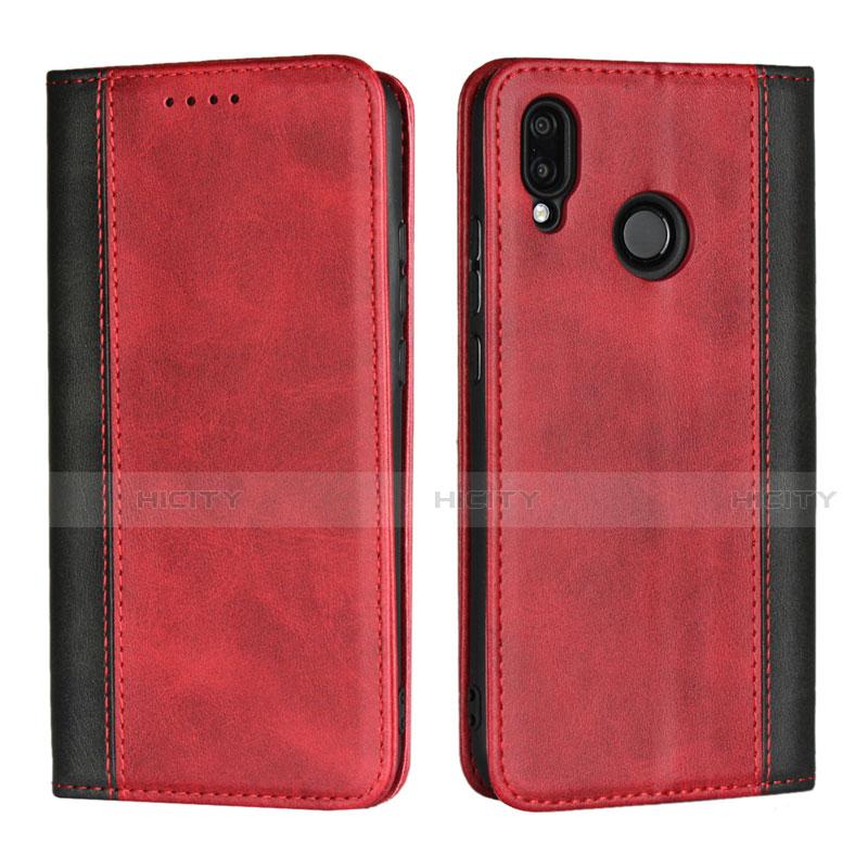 Huawei Nova 3e用手帳型 レザーケース スタンド カバー L04 ファーウェイ レッド